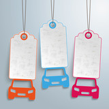 Fototapety 3 Cars Price Stickers