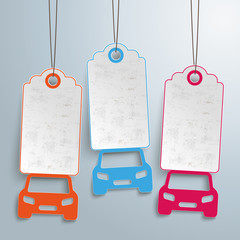 3 Cars Price Stickers