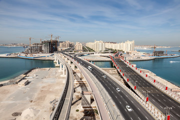 Palm Jumeirah highway,  Dubai, United Arab Emirates