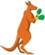 Постер, плакат: Kangaroo Boxer Boxing Retro