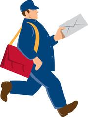 Mailman Postal Worker Delivery Man Retro