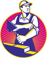 Mason Masonry Construction Worker Trowel