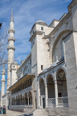 Side view of corridor and Süleymaniye mosque
