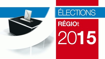Elections régionales 2015 région bulletin vote urne 3d animation