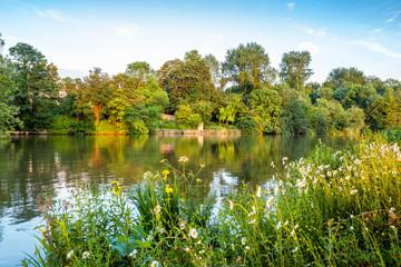 Thames River. Oxford, England