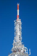 Frozen telecommunication tower