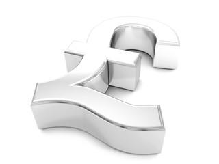 silver pound symbol