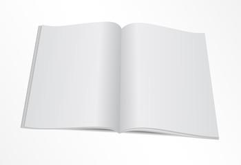 blank opened magazine mock template