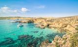 Fototapety The world famous Blue Lagoon in Comino island of Malta