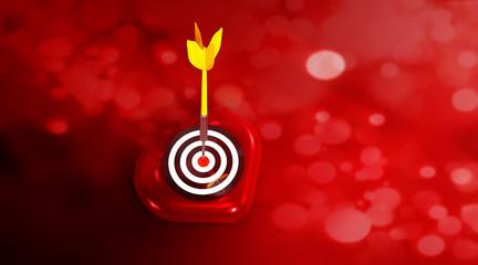 Herz Dart Zielscheibe R