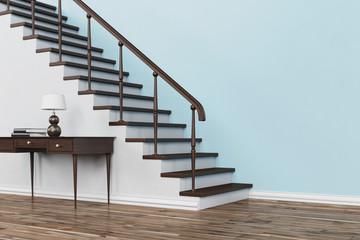 Klassische Treppe aus Holz im Haus