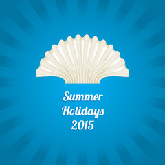 Summer background with a special sea shell design