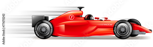Naklejka speed race car