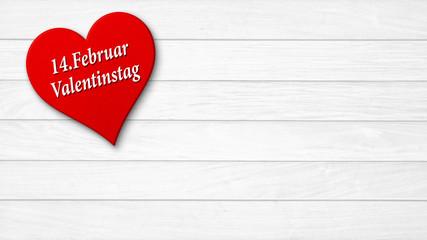 Valentinstag / Herz Holz Hintergrund Datum