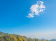 image of clear blue sky and mountain.