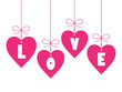 LOVE (day valentine romance hanging decorations)