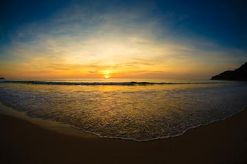 landscape a decline on the seashore