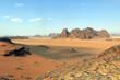 Mountains in the desert in Jordan
