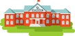 School building in flat style - 77672239