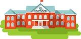 School building in flat style - 77672239