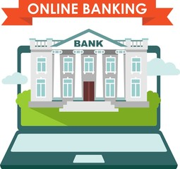 Online banking concept