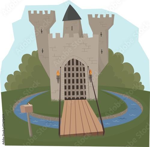 castle & moat - 77672439