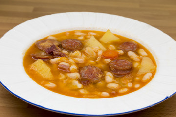 beans with sausage