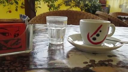 Caffè espresso in terrazza, bar