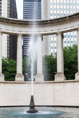 Water Spout in Chicago Fountain