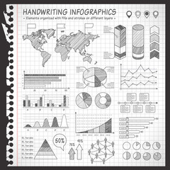 Notebook Black and White pen drawn infographics