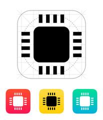 Mini CPU icon. Vector illustration.