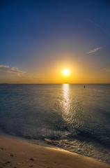 Tramonto mare dei caraibi