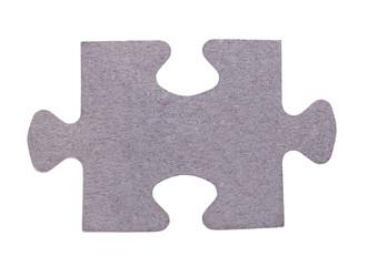 single puzzle element isolated on white