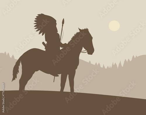 Native American Chief - 77674669