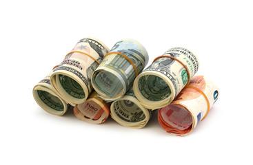 Geldscheine gerollt