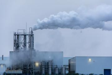 Factoría Industrial En Plena Producción