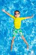 Leinwandbild Motiv Boy in the pool