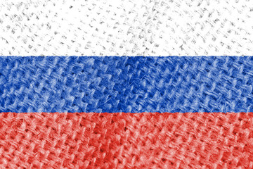Waving flag of the Russia