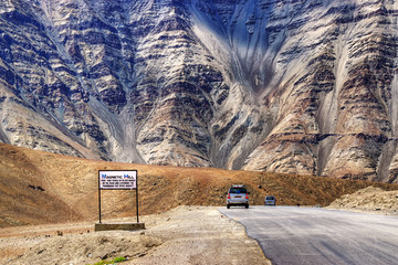 Magnetic Hill , leh, Ladakh, Jammu and Kashmir, India