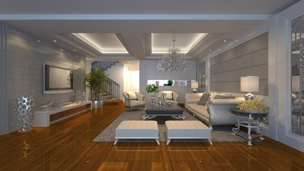 3D luxury house interior design