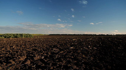 sky and a plowed field