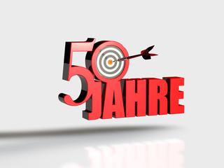 50 Jahre - Dart Zielscheibe R
