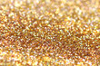 Gold nuggets sparkling carpet. Close-up view, very shallow deep - 77680096