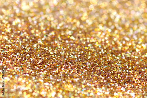 Deurstickers Edelsteen Gold nuggets sparkling carpet. Close-up view, very shallow deep
