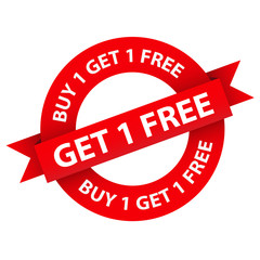"""BUY 1 GET 1 FREE"" stamp (special offer online)"