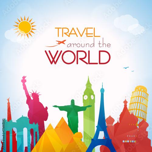 Travel around the world - 77680280