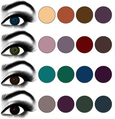 Eyes makeup.The best eyeshadows/makeup for every eye colour
