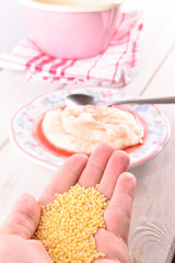 Homemade millet for children