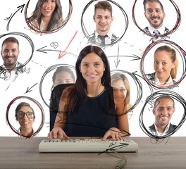Businesswoman chat