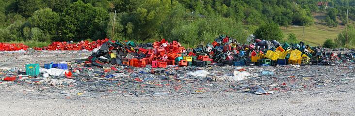 Plastic scrap yard